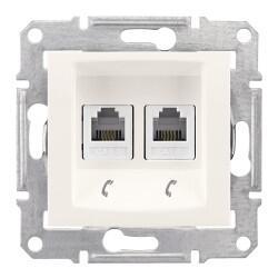 Schneider Electric - SEDNA 2XRJ11 4 KONTAKLI KREM 8690495035520