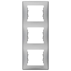 Schneider Electric - SCHNEİDER ELECTRİC SEDNA DİKEY 3 TAKIM ÇERÇEVE ALÜMİNYUM 8690495037944