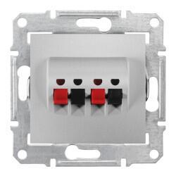 Schneider Electric - SEDNA İKİLİ HOPARLÖR PRİZİ ALÜMİNYUM 8690495036411