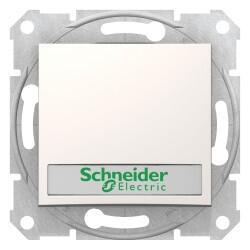 Schneider Electric - SEDNA IŞIKLI ETİKETLİ ÇAĞIRMA KREM 8690495039153
