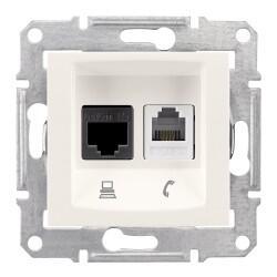 Schneider Electric - SEDNA KREM 1RJ45 CAT6E+1RJ11 8690495036282