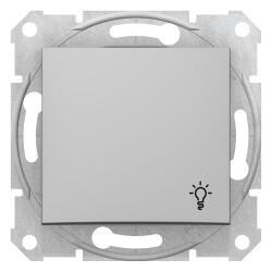 Schneider Electric - SEDNA LİGHT BUTONU LAMBA İŞARETLİ ALÜMİNYUM 8690495033069