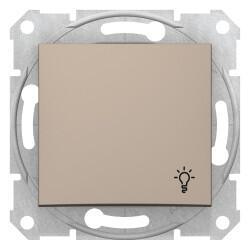 Schneider Electric - SCHNEİDER ELECTRİC SEDNA LİGHT BUTONU LAMBA İŞARETLİ TİTANYUM 8690495033083