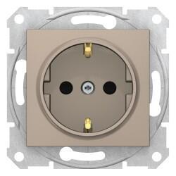 Schneider Electric - SEDNA TOPRAKLI PRİZ ÇOCUK KORUMALI TİTANYUM 8690495034479
