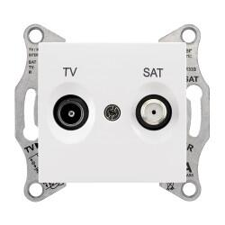 Schneider Electric - SEDNA TV-SAT PRİZİ GEÇİŞLİ 8 DB F TİPİ BEYAZ 8690495043280