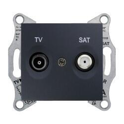 Schneider Electric - SEDNA TV-SAT PRİZİ GEÇİŞLİ 8 DB F TİPİ GRAFİT 8690495043310