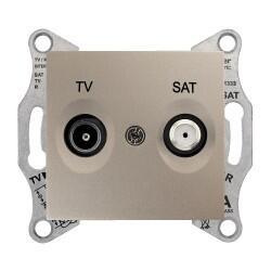 Schneider Electric - SEDNA TV-SAT PRİZİ GEÇİŞLİ 8 DB F TİPİ TİTANYUM 8690495043303