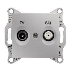 Schneider Electric - SCHNEİDER ELECTRİC SEDNA TV-SAT PRİZİ SONLU F TİPİ ALÜMİNYUM 8690495039627