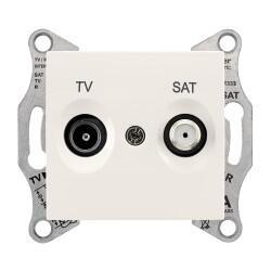 Schneider Electric - SCHNEİDER ELECTRİC SDN3401623 SEDNA SONLU F TİPİ KREM TV-SAT PRİZİ 8690495039344