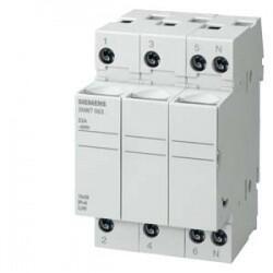 Siemens - SİLİNDİRİK SİGORTA YUVASI (KARTUŞ SİGORTA YUVASI) 14X51mm 3 KUTUP 50A