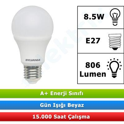 SYLVANİA TOLEDO 8.5W 806LM LED AMPUL (BEYAZ) 6500 E27 (10 ADET)