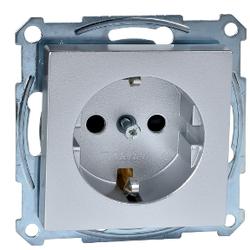 Schneider Electric - SCHNEİDER ELECTRİC TOPRAKLI PRİZ ÇOCUK KORUMALI ALÜMİNYUM M-PLAN/M-ELEGANCE ÇERÇEVELER İÇİN 3606480303210