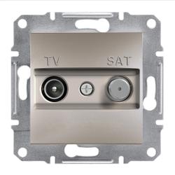Schneider Electric - SCHNEİDER ELECTRİC TV-SAT ARA ÇIKIŞI (8DB) ÇERÇEVESİZ BRONZ 3606480727924