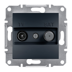 Schneider Electric - SCHNEİDER ELECTRİC TV-SAT BİTİŞ ÇIKIŞI (1DB) ÇERÇEVESİZ ANTRASİT 3606480729676