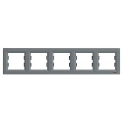 Schneider Electric - SCHNEİDER ELECTRİC ASFORA 5 TUŞLU YATAY ÇERÇEVE ÇELİK 3606480730726